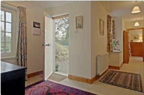entrance hall of cottage in Crieff