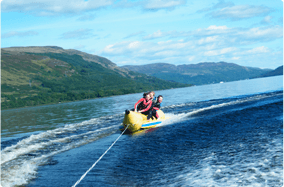 watersports on nearby Loch Earn