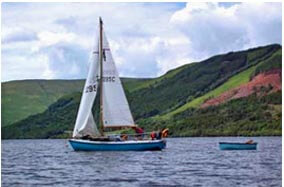 sailing on Loch Earn